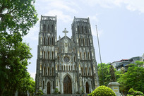 越南河内最古老的河内大教堂
