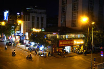 越南河内夜晚街景