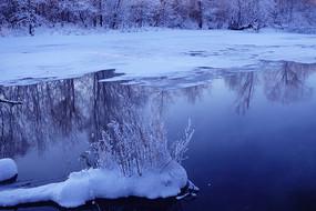 大兴安岭根河不冻河风光