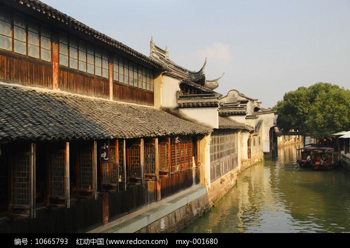 乌镇水乡小船图片