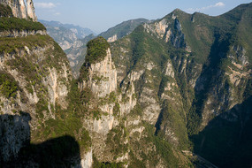 重庆巫山黄岩净坛峰崇山峻岭