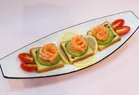 三文鱼刺身拼盘美味食品