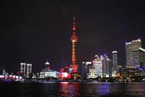 70周年国庆上海外滩夜景