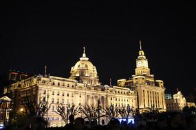 上海外滩著名建筑夜景摄影