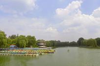 北京陶然亭公园陶然亭湖游船码头
