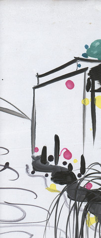江南水墨抽象画