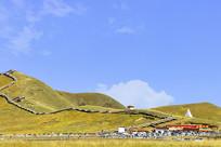 若尔盖黄河第一湾登山景栈道