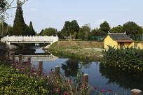 乡村石桥景色