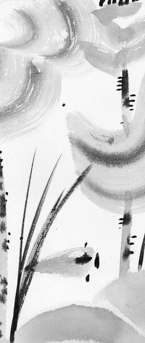 新中式风格装饰水墨画