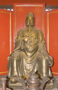 北京陶然亭-文昌帝君雕塑