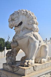 石狮子雕塑图片