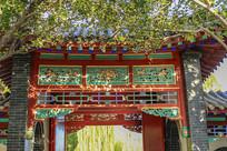济南大明湖中式建筑局部