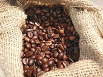麻布袋咖啡豆