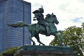 日本幕府将军雕塑