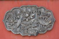 中式花卉浮雕