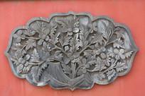 中式花卉题材石头浮雕