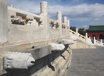 北京天坛望柱和凤凰雕塑