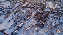 大兴安岭林区冬季人家雪