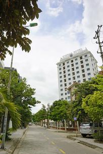 越南海阳省街道的宾馆
