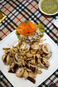 越南美食炒鱿鱼