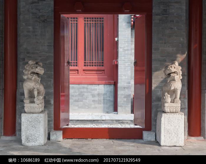 北京四合院的门口图片