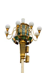 北京天安门广场路灯特写