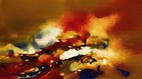 床头横幅抽象油画