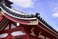 浅草寺的古建筑屋檐细节