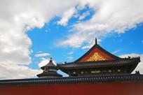 北京天坛祈年殿及红墙