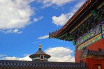 北京天坛祈年殿及围墙