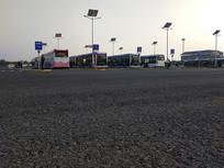 进博会大型停车场拍摄