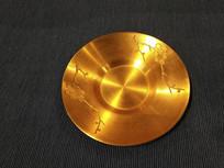 金色梅花碗