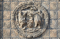 砖雕动物图案