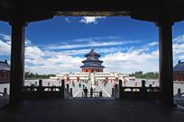 北京天坛祈年殿和栏杆