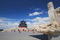 北京天坛祈年殿和龙出水