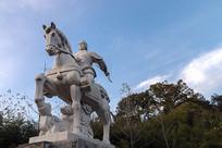 明玉珍骑战马雕像