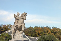 明玉珍征战雕像