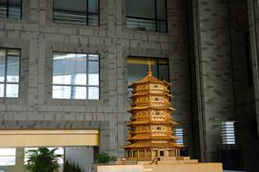 中国工程院的应县木塔模型