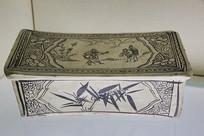 元代人物故事瓷枕