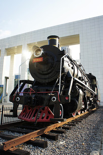 黑色蒸汽火车