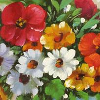 花卉数码印花画