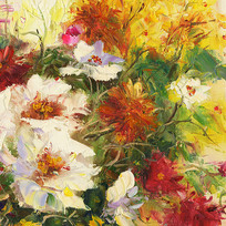 花卉艺术壁画