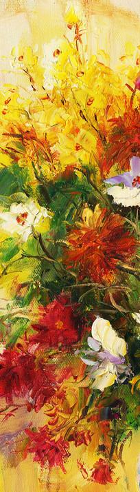 玄关端景花卉画