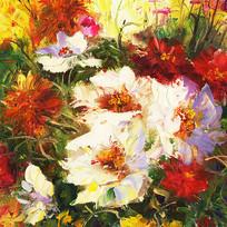 原创花卉油画