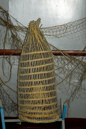 川西老物件-渔具鱼篓
