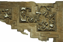 川西民居木雕装饰-狮子戏绣球