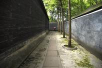 四川大邑县刘氏庄园老公馆收租院庭院围墙