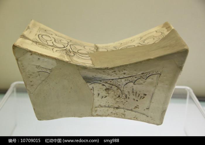 白釉元宝形瓷枕北宋图片