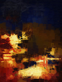 仿真抽象油画