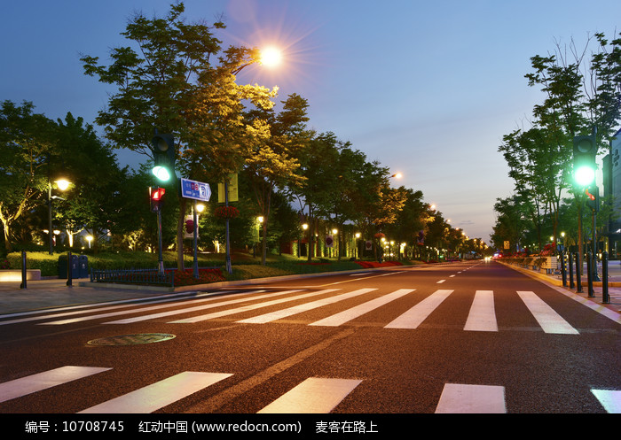 公路与路灯图片